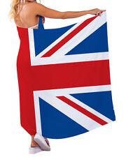 Bandera Reino Unido diseño Chiffon SARONG TRAJE DE BAÑO Beach Vestido playero