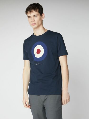 0059935-025 RRP £35 Ben Sherman Dark Navy Mod Target T Shirt