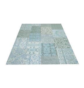 Webteppich-Teppich-Teppiche-Vintage-Patchwork-Retro-Design-Modern-Wohnzimmer