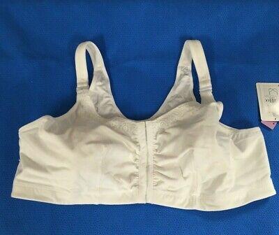 "/""Hannah SB/"" White Size L Mastectomy Bra C//D Details about  /Amoena #2160"