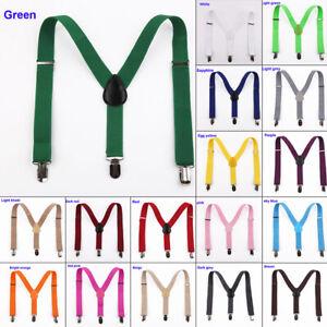 Bretelle-Elastico-Regolabile-Abbigliamento-Supply-1pc-Clip-On-Unisex-Colori