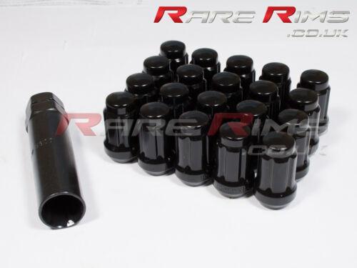 BLACK spline DADI delle ruote x 20 12x1.5 mm Si Adatta Mitsubishi L200