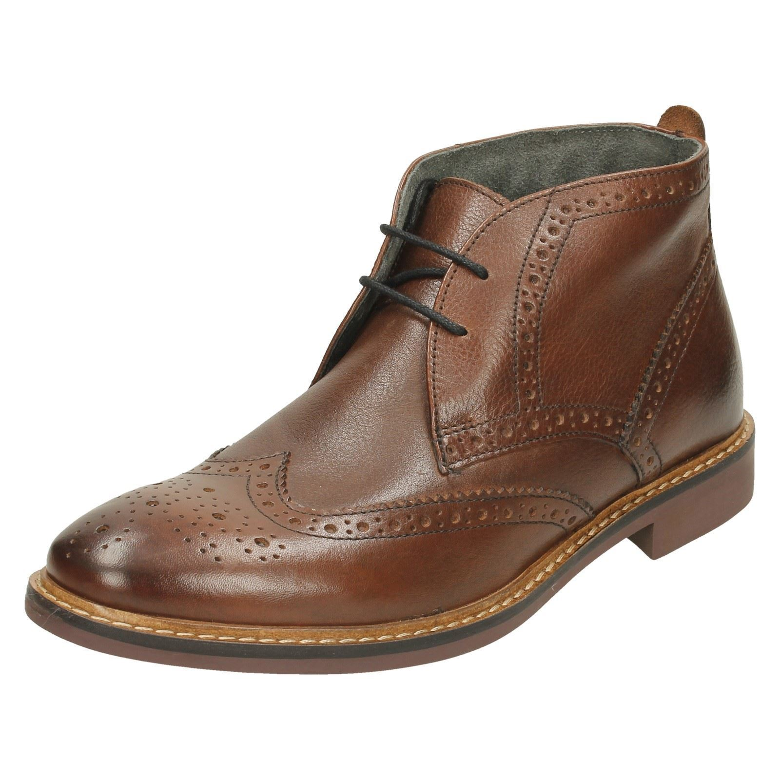 Base Boot London Trick Brown Leather Ankle Boot Base 7c09a4