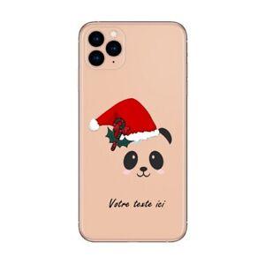 Coque Iphone 12 PRO MAX panda noel personnalisee