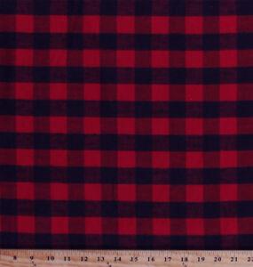 d5e9c9e132e Flannel Red and Black Buffalo Plaid Check Cotton Flannel Fabric By ...
