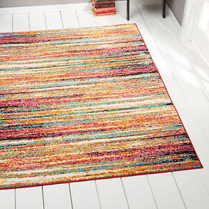 Image Is Loading Abstract Lines Multi Color Area Rug 5x7 Modern