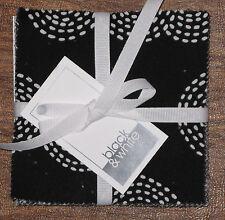"(42) 5"" Fabric Squares - Black & White Floral Basics Novelty - Michael Miller"