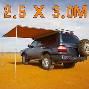 Image is loading 2-5M-x-3M-AWNING-ROOF-TOP-TENT- & 2.5M x 3M AWNING ROOF TOP TENT CAMPER TRAILER 4WD 4X4 CAMPING CAR ...
