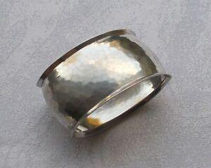 RAR-Elegant-Napkin-Ring-Art-Deco-Bauhaus-Hammer-Blow-800er-Silver-Htb