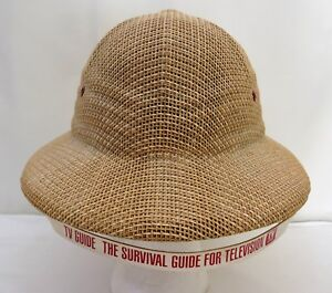 1bd8021c7dd Vintage TV Guide Safari Hat The Survival Guide For Television TV