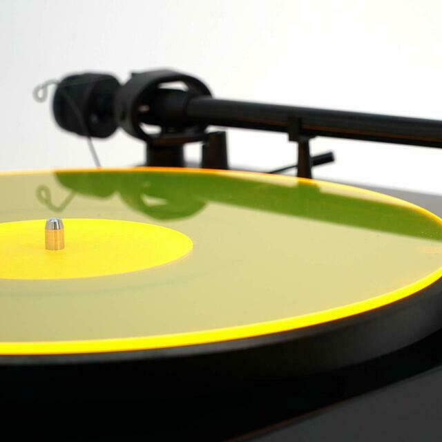 Acrylic Turntables Accessories Turntable Mat Yellowlit Lp Slipmat Made In Usa For Sale Online Ebay