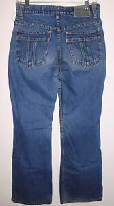 LEVI-039-S-Jeans-Sz-7-Silver-Tab-Hipster-Flare-Mid-Rise-Blue-Denim-Junior-Women