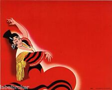 STOCK CRATE LABEL 1940S ART DECO SPANISH DANCER RARE ORIGINAL NOS PINUP ORIGNAL