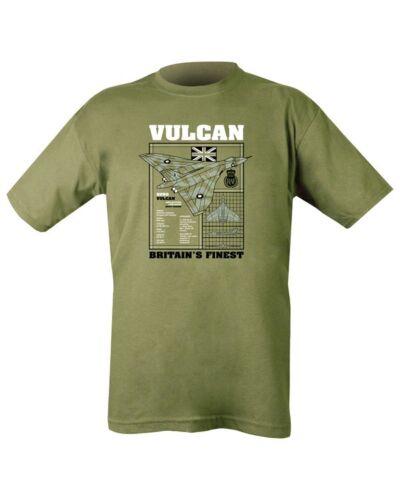 VULCAN BOMBER T-SHIRT MEN BRITISH RAF ARMY MILITARY AIRCRAFT FIGHTER TEE TOP