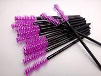 Purple Triple Sphere Mascara Wands Brushes Disposable Eyelash Extension