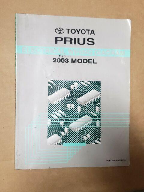 2003 Toyota Prius Shop Service Electrical Wiring Diagram