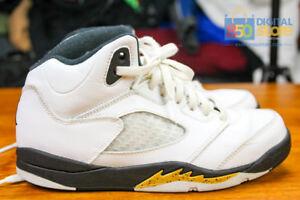 b414620874c856 Air Jordan Retro 5 V PS Preschool sz 3 Y Youth 440889-133 White Gold ...