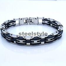 BIKE CHAIN STAINLESS STEEL 316L MEN'S JEWELLERY BRACELET R5