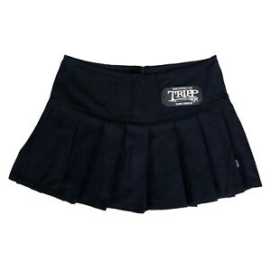 Tripp-NYC-80-90s-Gothic-Horror-Punk-School-Girl-Black-Pleated-Mini-Skirt-Size-XL