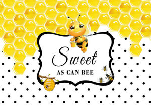 Nature 12x10 FT Vinyl Photo Backdrops,Sweet Honey Bees Wax Abstract Insect of Spring Season Artwork Image Background for Selfie Birthday Party Pictures Photo Booth Shoot