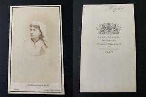 Reutlinger-Paris-actrice-a-identifier-Vintage-albumen-print-CDV-Tir