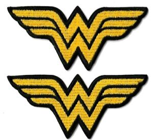 Wonder Woman Winged W [Lot of 2] Logo Patch [Embroidered Iron or Sew On] Comics