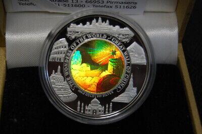 Kambodscha 10.000 Riels 2003, Top Rarität Pp In Kapsel, Bimetall Hologramm