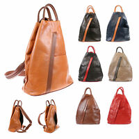 Women's Geniune Italian Leather Backpack Shoulder Fashion Bag BP005