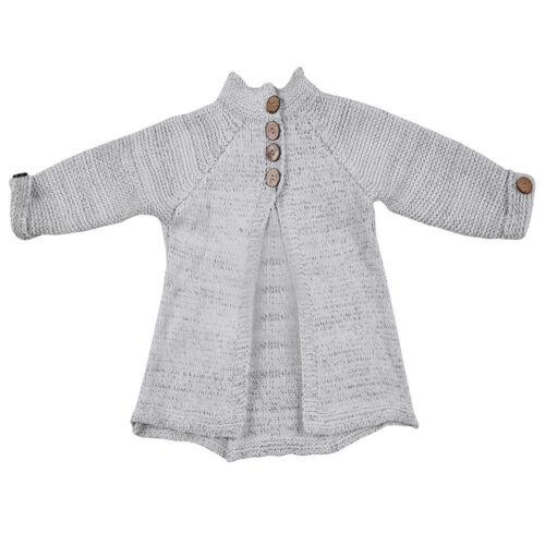 Enfant Bébé Filles Tenue Vêtements Bouton Tricot Pull Cardigan Manteau Tops