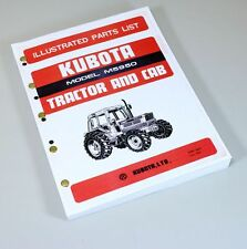 Kubota M5950 Tractor Parts Assembly Manual Catalog Exploded Views Numbers