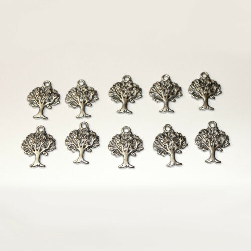 10pcs Tibetan Silver Tree Charms