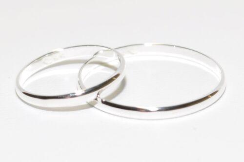 Trauring Höchste Qualität Ehering 2 mm Breit !! 925 Silber Partnerring