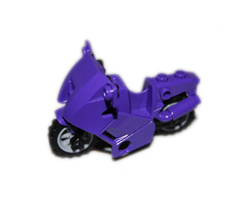 NEW LEGO - Vehicle - Motorcycle Purple Dark black chassis Super Heroes 6858 cat