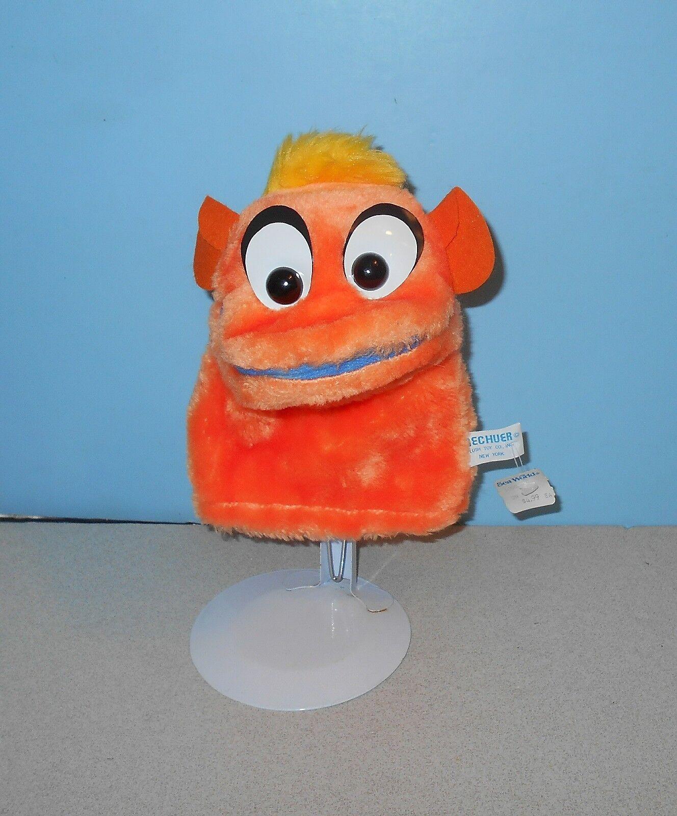 Vintage Brechuer Toys Orange Creature 8