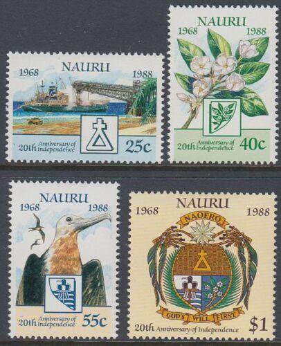 Nauru 1988 ** Mi.342/45 Unabhängigkeit Independence Vogel Bird [st0456]