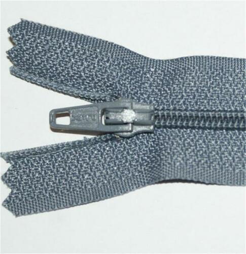 """No.3 Closed End Nylon Zips 20/"""" /& 22/"""" Wholesale Packets"""