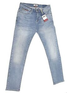 ad0483d758 Dettagli su Tommy Hilfiger Denim Jeans Pantalone uomo Scanton Slim Fit  Light Blue DM0DM03544