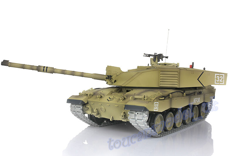HengLong 1 16 British Challenger II RTR RC Tank Upgraded Metal Sound Smoke 3908
