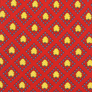 3333f2cf8785 Details about THOMAS PINK Deep Red Golden Yellow Tree Blue Diamond Men's  Silk Skinny Neck Tie