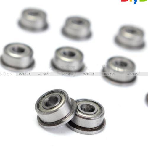 10PCS F693ZZ 3*8*4mm Miniature Deep Groove Ball Flanged Cup Bearings 3x8x4mm