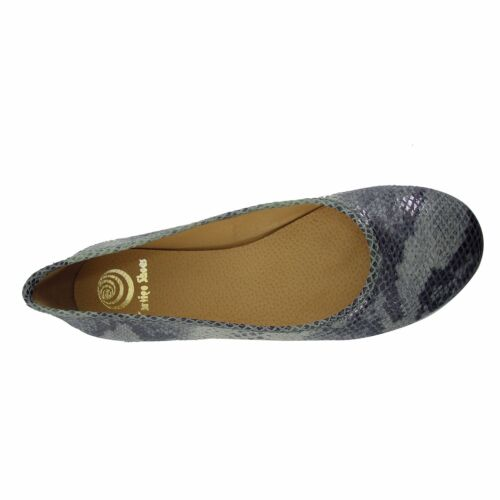 Size 13 UK 11 EU 45 Mint Snake Print Leather Ballet Flats MADE IN SPAIN