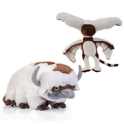 2pcs Avatar The Last Airbender Appa /& Momo Plush Doll Stuffed Toy Anime Gift