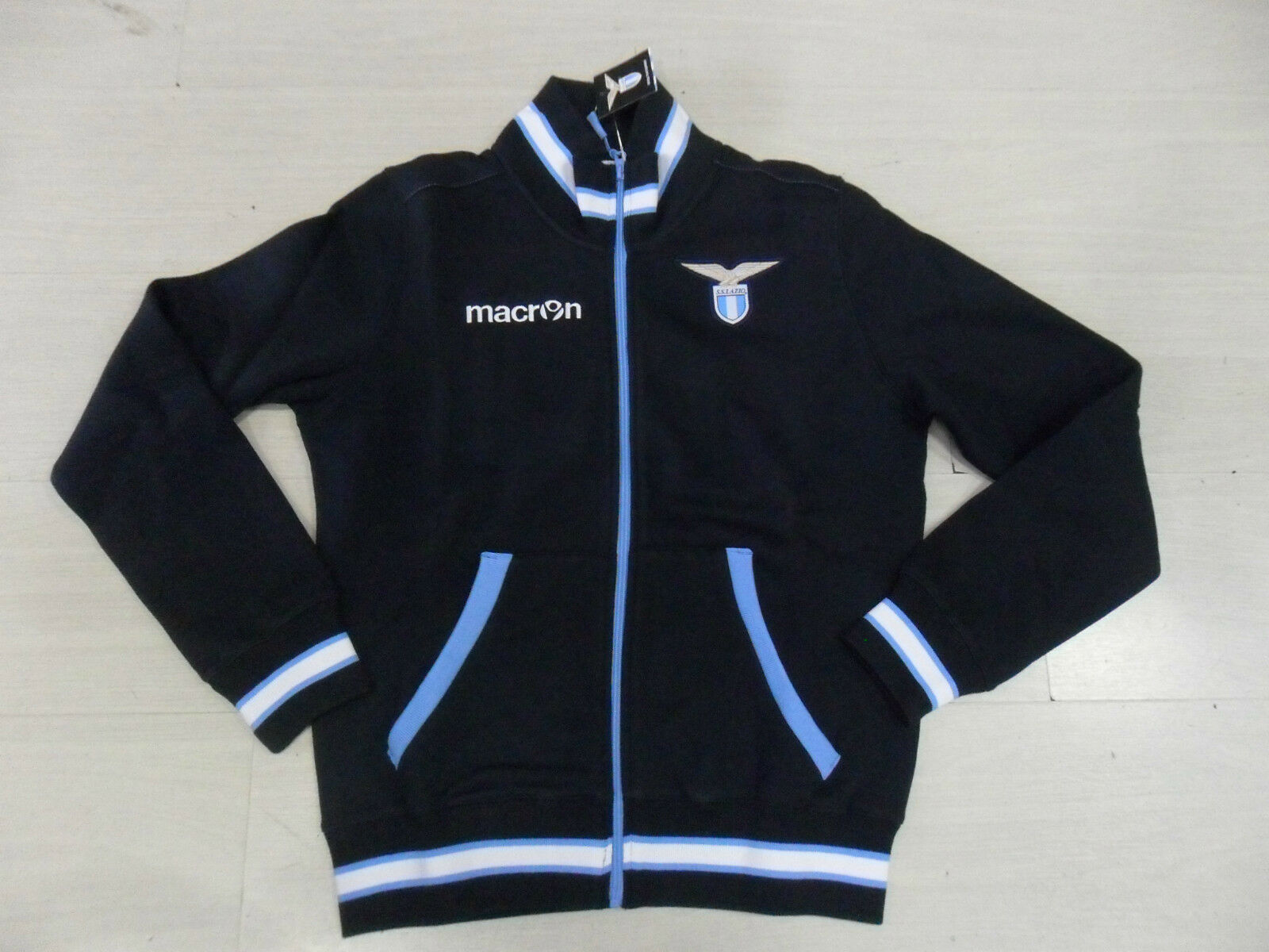 TG. S  MACRON SS LAZIO FELPA RAPPRESENTANZA FULL ZIP SWEAT JACKET TOP 2013   25