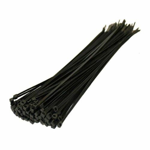 Black Zip Tie Ties 300mm x 4.8mm Nylon Long Wrap Wire Tie UK Cable Ties