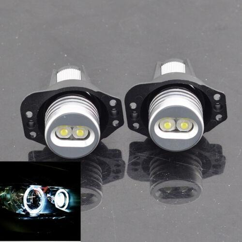 White CREE LED Halo Angel Eyes Bulbs Compatible For  BMW E90 E91 325i 328i 335i