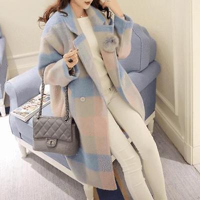 Hot Sale Women's Lapel Collar Loose Korean Style Coat Fashion Wool Blend Jacket