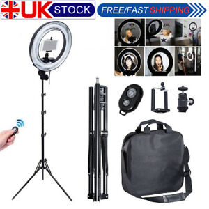 Studio 400W 34cm Photo Video Ring Light + Camera iPhone Holder + 185cm Stand 713095618851