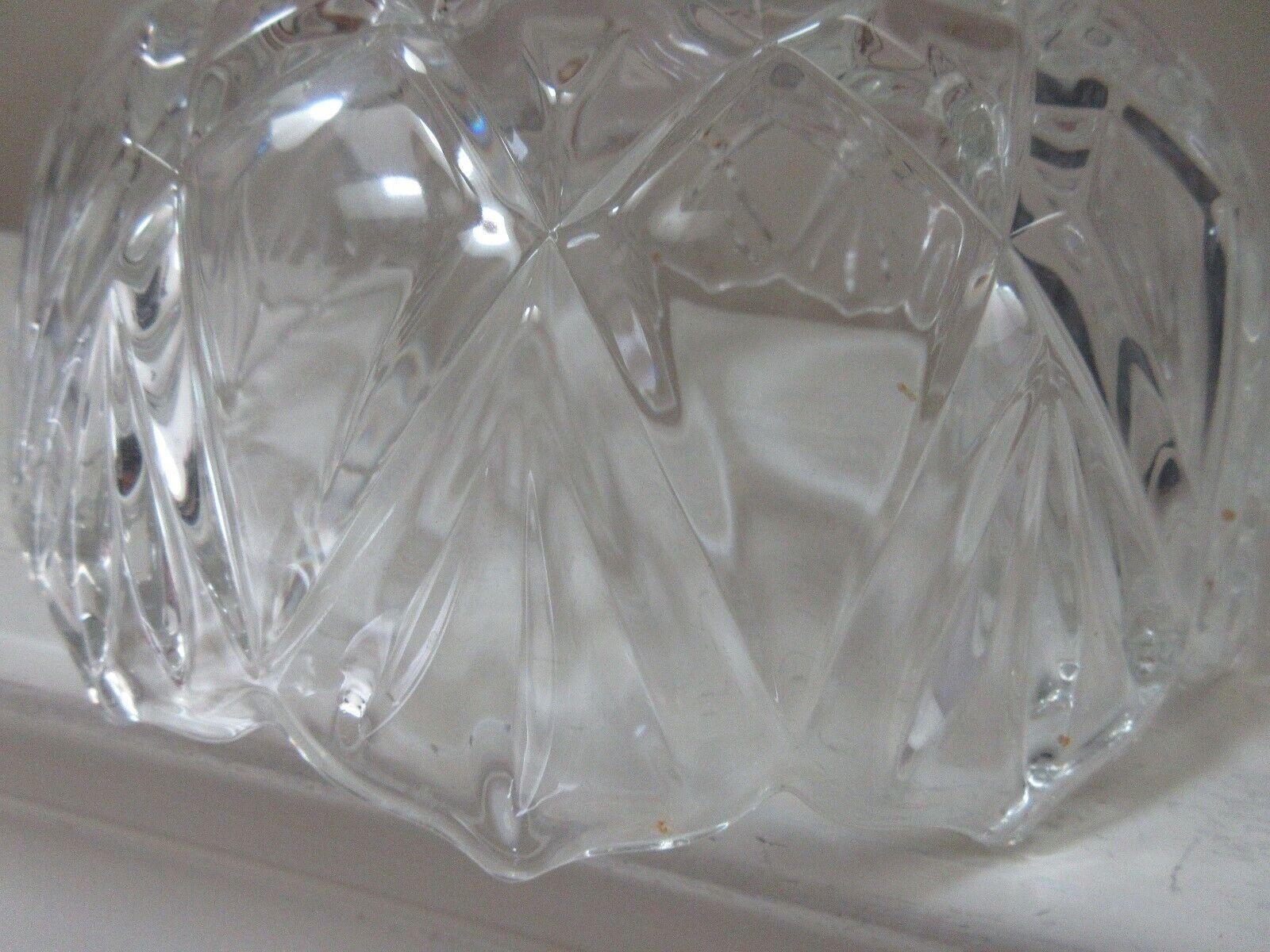 "Crystal Bowl , 2 Lbs. , 8"" x 3 1/2"" , 24: Diameter , Un"