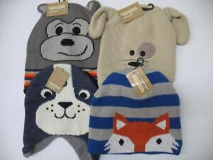 New-Knit-Beanie-Hat-Cap-Winter-Cold-Snow-Skiing-Animal-Dog-Fox-Seal-Kids-Youth