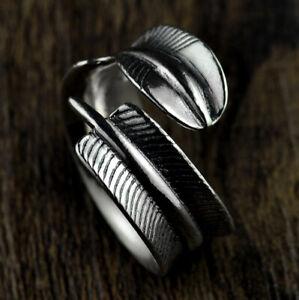 Details zu C30 Ring Feder aus Sterling Silber 925 Gr. 18 20 größenverstellbar